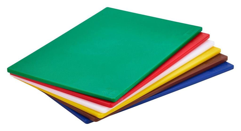 "1/2"" Low Density Green Poly Cutting Board 18 x 12 x 0.5"""