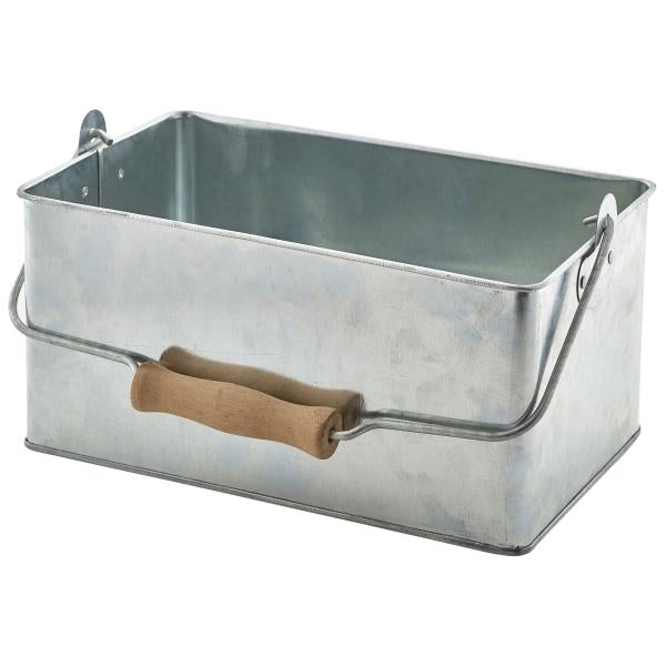 Galvanised Steel Rectangular Table Caddy 24.5x15.5x12cm
