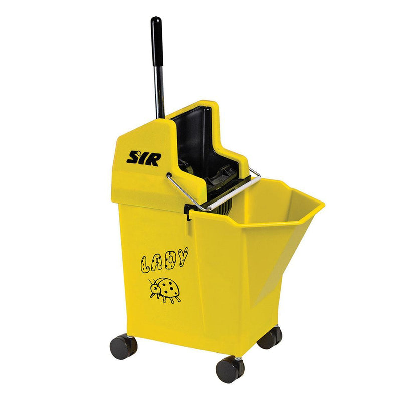 Kentucky & Flat Mop Bucket Combo Yellow
