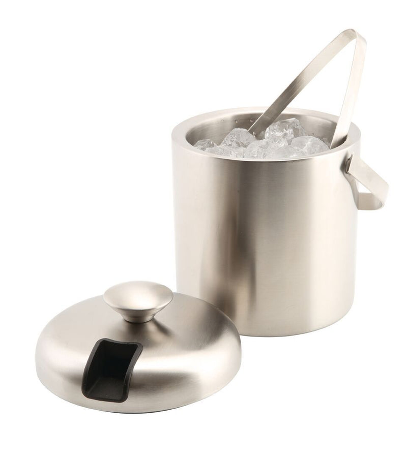 Insulated St/st Ice Bucket&Tong 1.2L