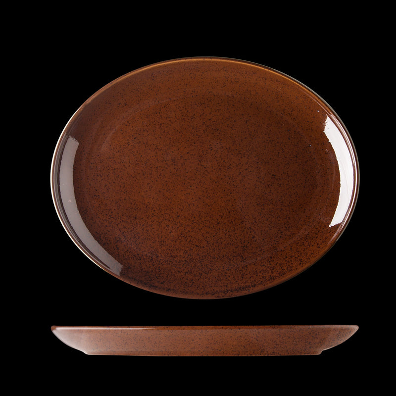 Lifestyle Cocoa Oval Plate 32cm (box of 6)