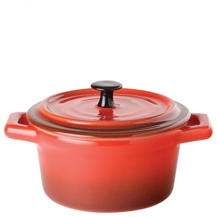 "Flame Round Casserole 4"" (10cm) 9oz (26cl) (box of 6)"
