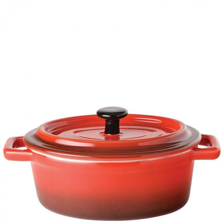 "Flame Oval Casserole 6"" (15cm) 17oz (48cl) (box of 6)"