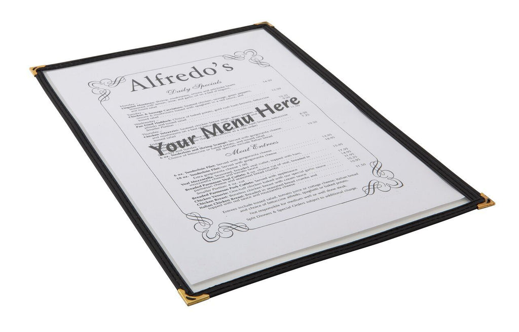 American Style Clear Menu Holder - 1 Page