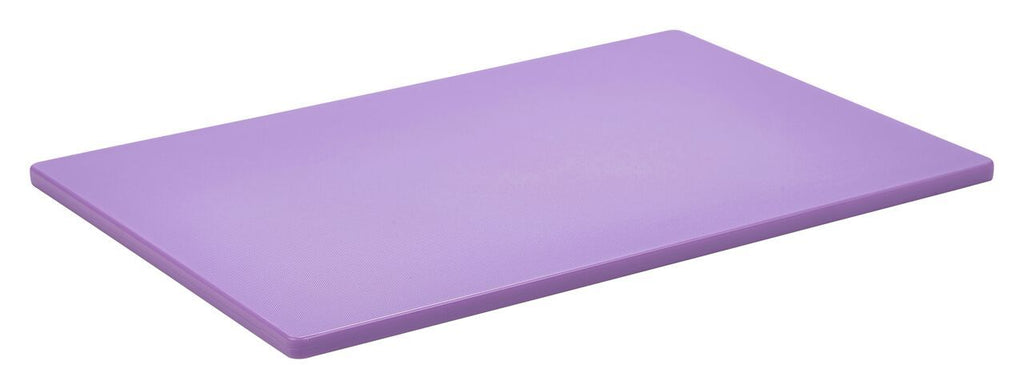 "1/2"" Low Density Purple Poly Cutting Board 18 X 12 X 0.5"""