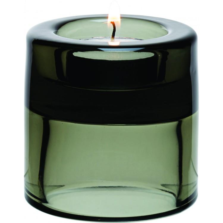 "Black Double Ended Tealight Holder 2.75"" (7cm) (box of 12)"