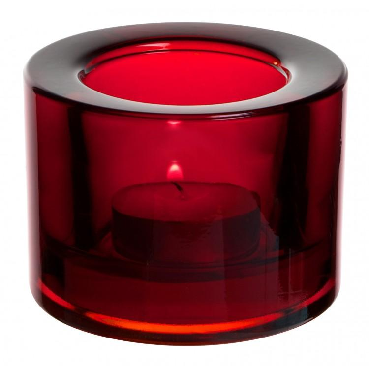 Chunky Tealight Holder - Red (box of 12)