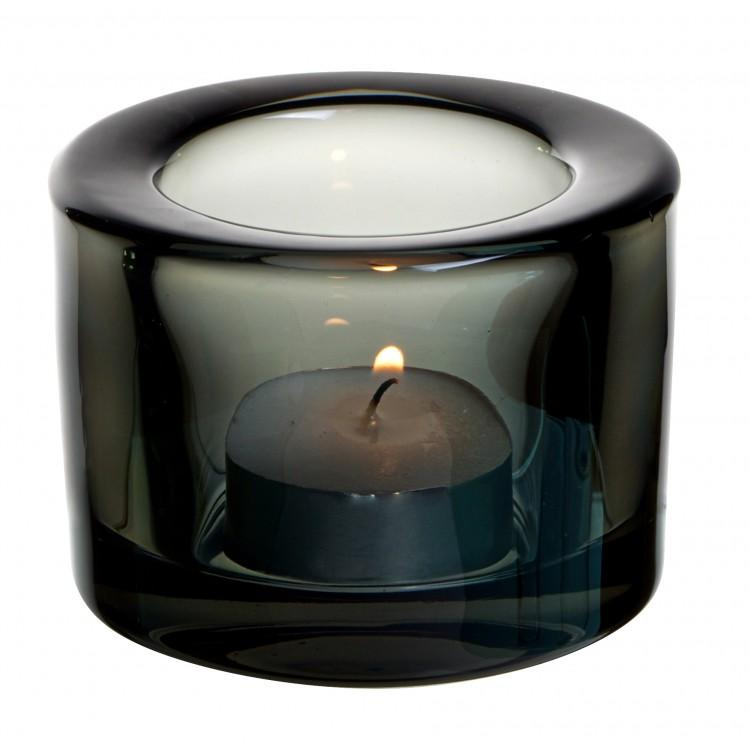 Chunky Tealight Holder - Black (box of 12)