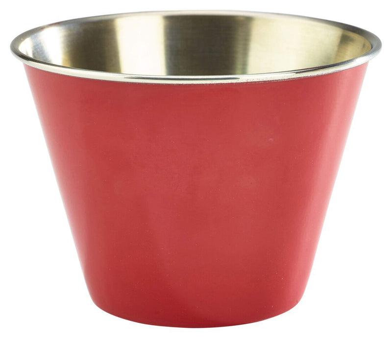 12oz Stainless Steel Ramekin Red