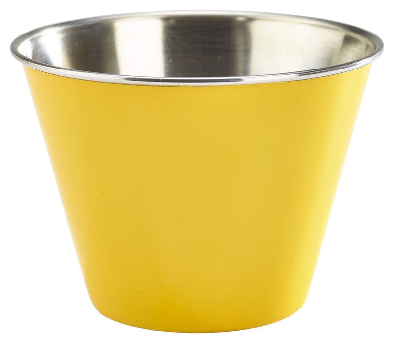 12oz Stainless Steel Ramekin Yellow
