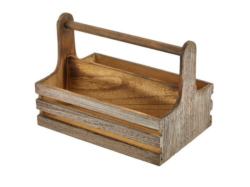 Rustic Wooden Table Caddy