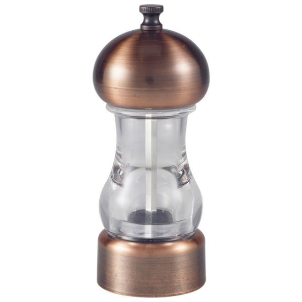 Antique Copper & Acrylic Salt/Pepper Grinder 14cm