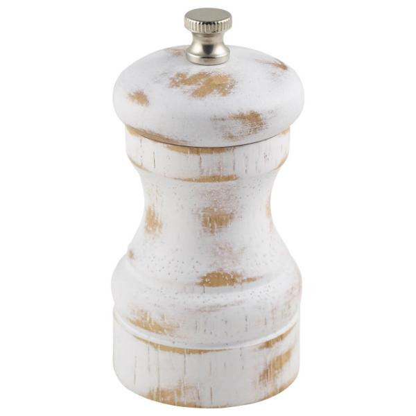 White Wash Salt/Pepper Grinder 10cm