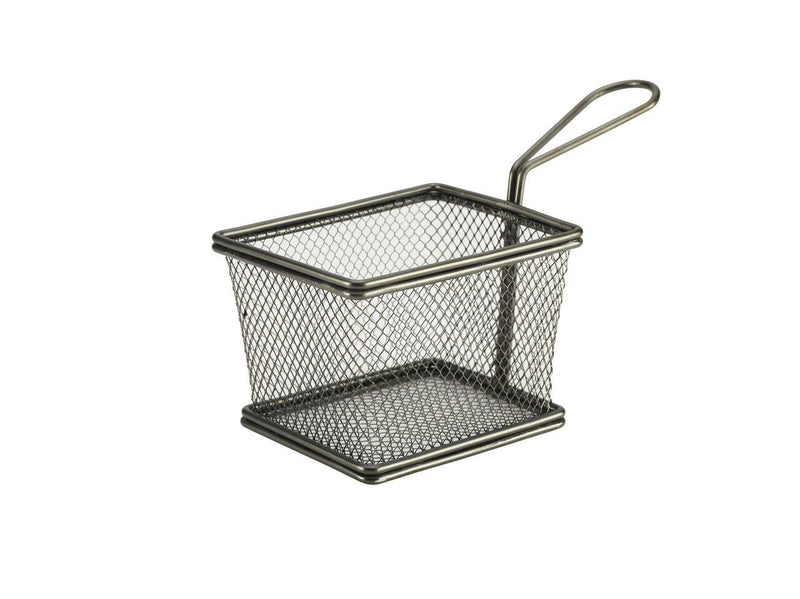 Black Serving Fry Basket 12.5 x 10 x 8.5cm