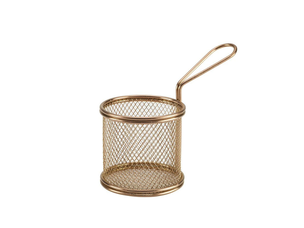 Copper Serving Fry Basket 9.3 x 9cm