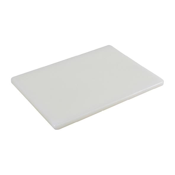 "White 1/2"" Low Density Small PE Cutting Boards"