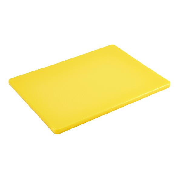 "Yellow 1/2"" Low Density Small PE Cutting Boards"