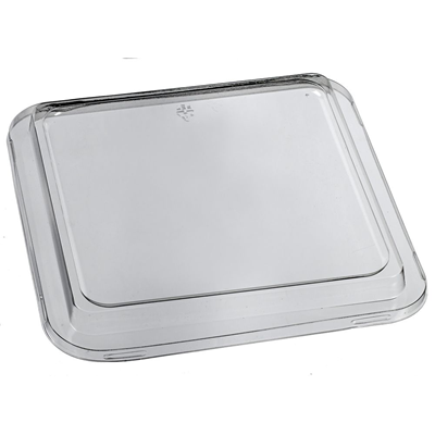 Lids for  Sugar Cane Pulp Square Take Away Plates 19cm - Box of 500