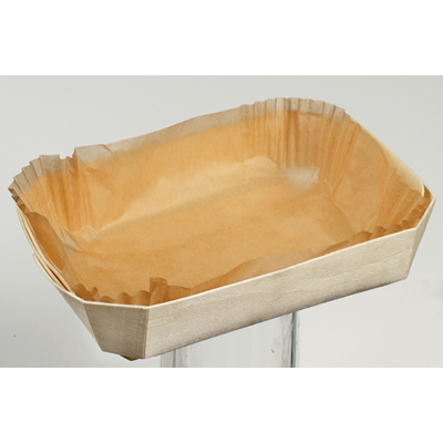 """ The Marquis "" Wooden Punnet with Baking Paper   - Box of 200"
