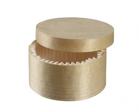 Round Wooden Normande Take Away Box 170ml  - Box of 200