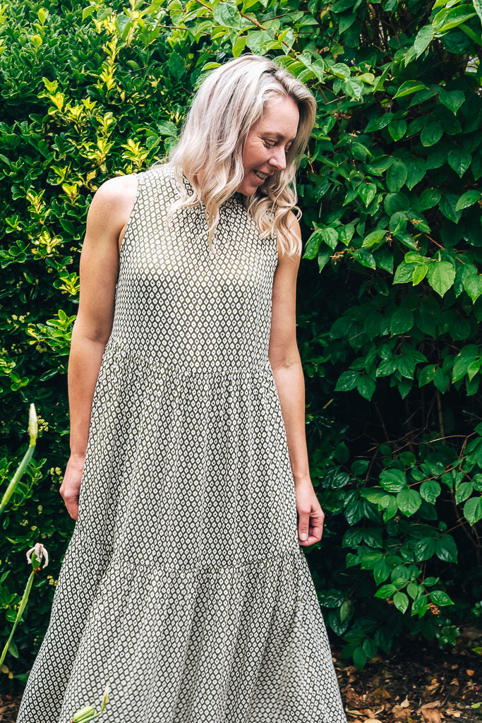 CASABLANCA MIDI DRESS - DIAMOND