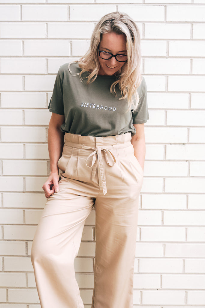 PALOMA HIGH WAISTED PANT - BISCOTTI