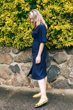 ELLIKA MIDI DRESS - BLUE