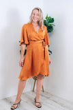 MARIELLA WRAP DRESS - APRICOT