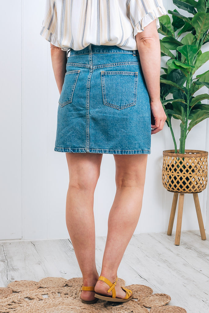 LINDEN SKIRT - CLASSIC BLUE WASH