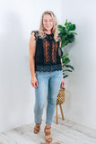 ATLANTIS LACE TOP - BLACK MAGIC