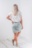 JAMIEE DENIM SKIRT - LIGHT BLUE