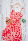 LEIA WRAP DRESS - CORAL MULTI