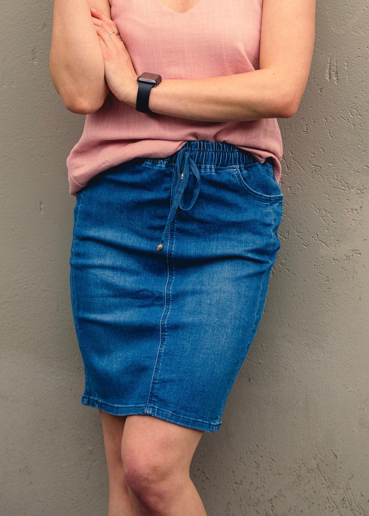 THE JOGGER SKIRT - MEDIUM BLUE