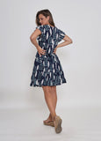 SKYLA DRESS - NAVY PRINT