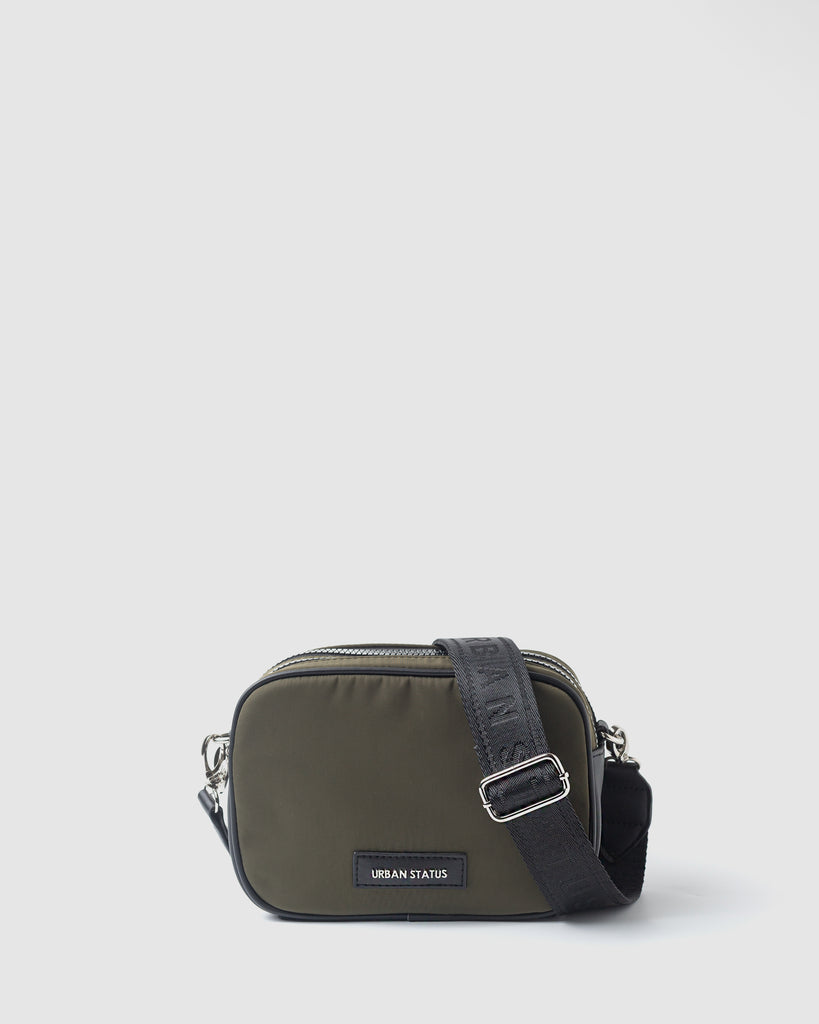 HENRY DOUBLE ZIP CAMERA BAG - KHAKI