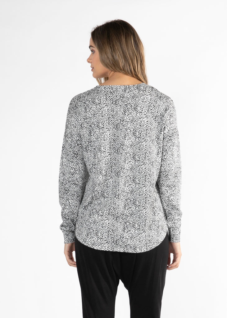 SOPHIE KNIT JUMPER - WHITE / BLACK TERRAIN