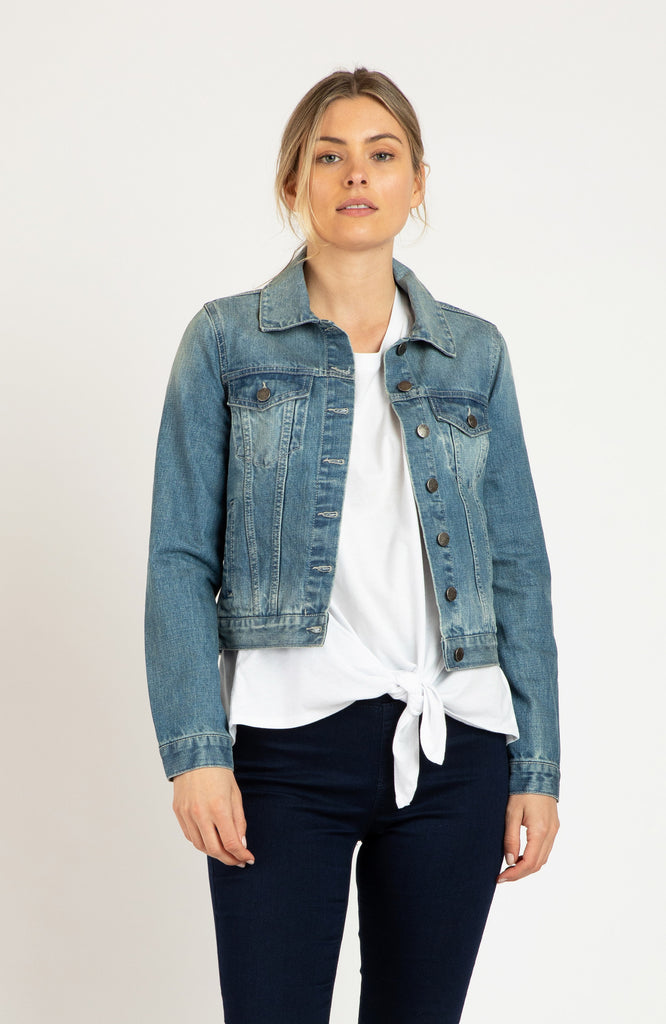 QUINN DENIM JACKET - VINTAGE WASH
