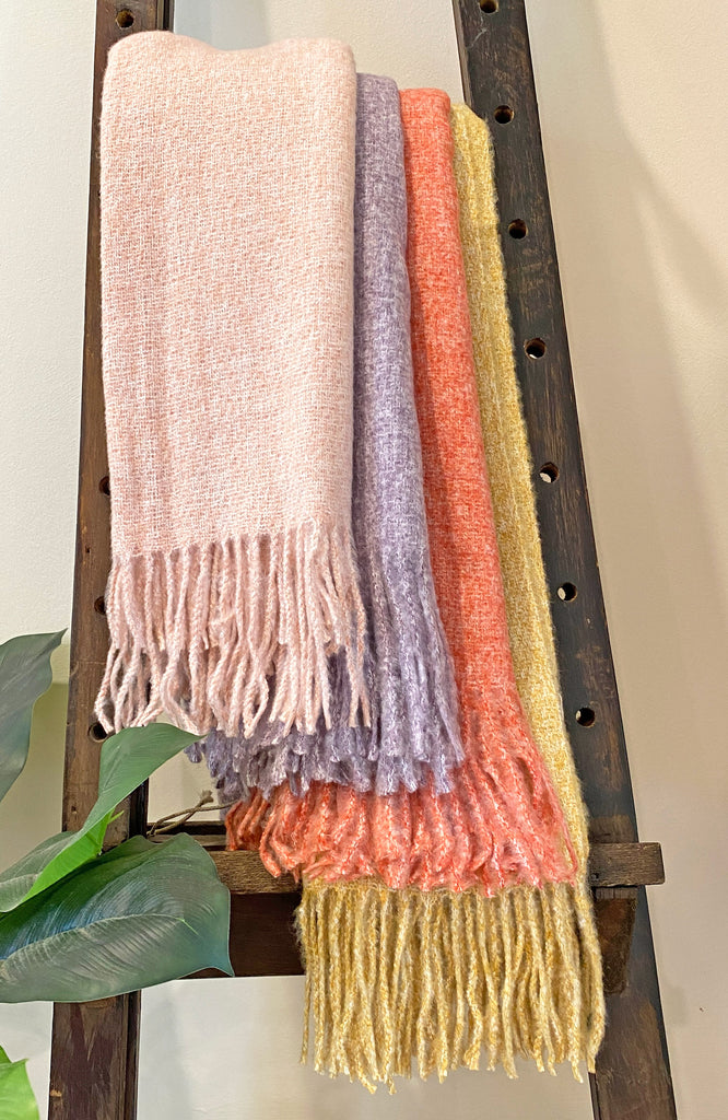 ENSLEY WOVEN SCARF - PINK