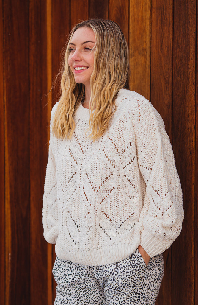 MILLER CHENILLE KNIT JUMPER - CREAM