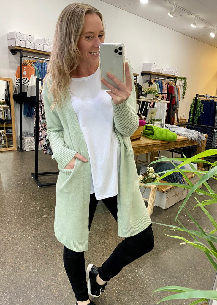 SOPHIA CARDI - LIGHT GREEN