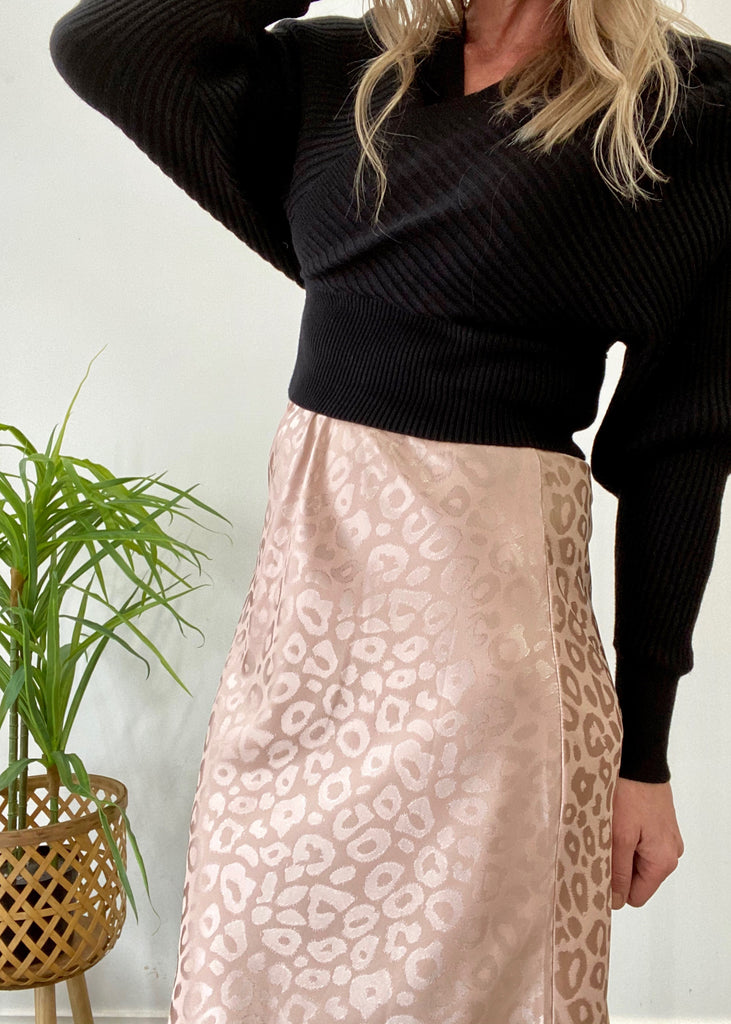 KATHERINE SKIRT - BLUSH PRINT