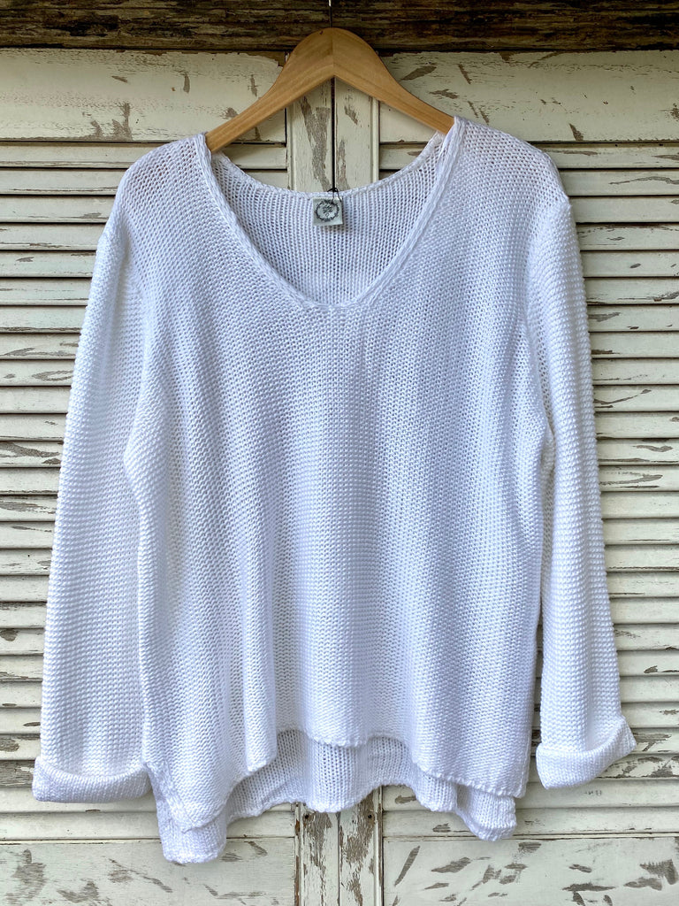 HOLLY KNIT JUMPER - WHITE