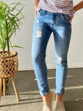 MISHA DISTRESSED DENIM- BLUE WASH