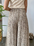 WILD CAT PANTS - SOFT LEOPARD PRINT