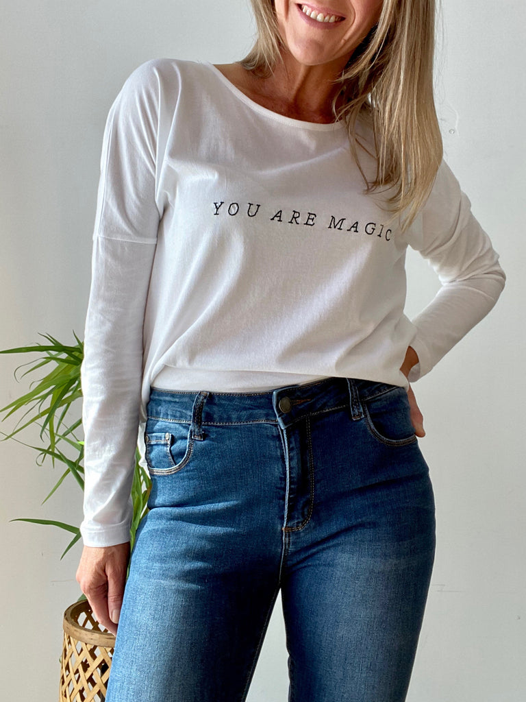YOU ARE MAGIC L/S TEE - PEARL