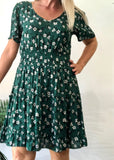CALISTA DRESS - EMERALD FLORAL