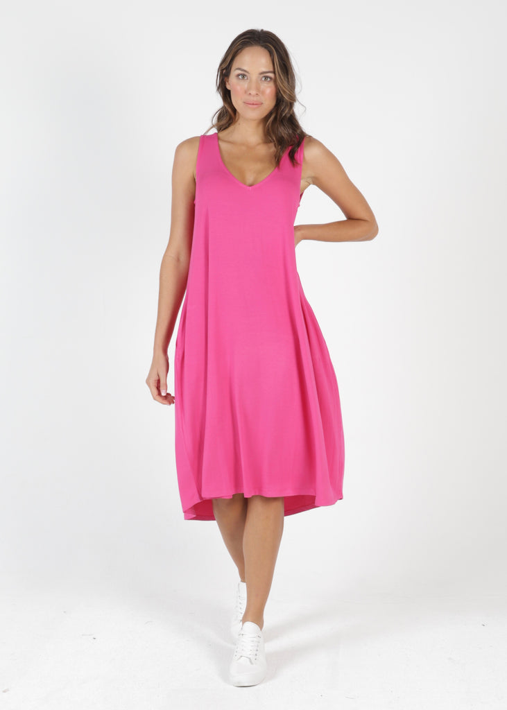 OMAN DRESS - FUCHSIA