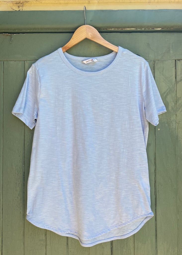 PASTEL TEE - POWDER BLUE