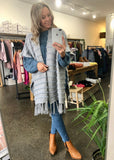 DELANEY KNIT CAPE - GREY