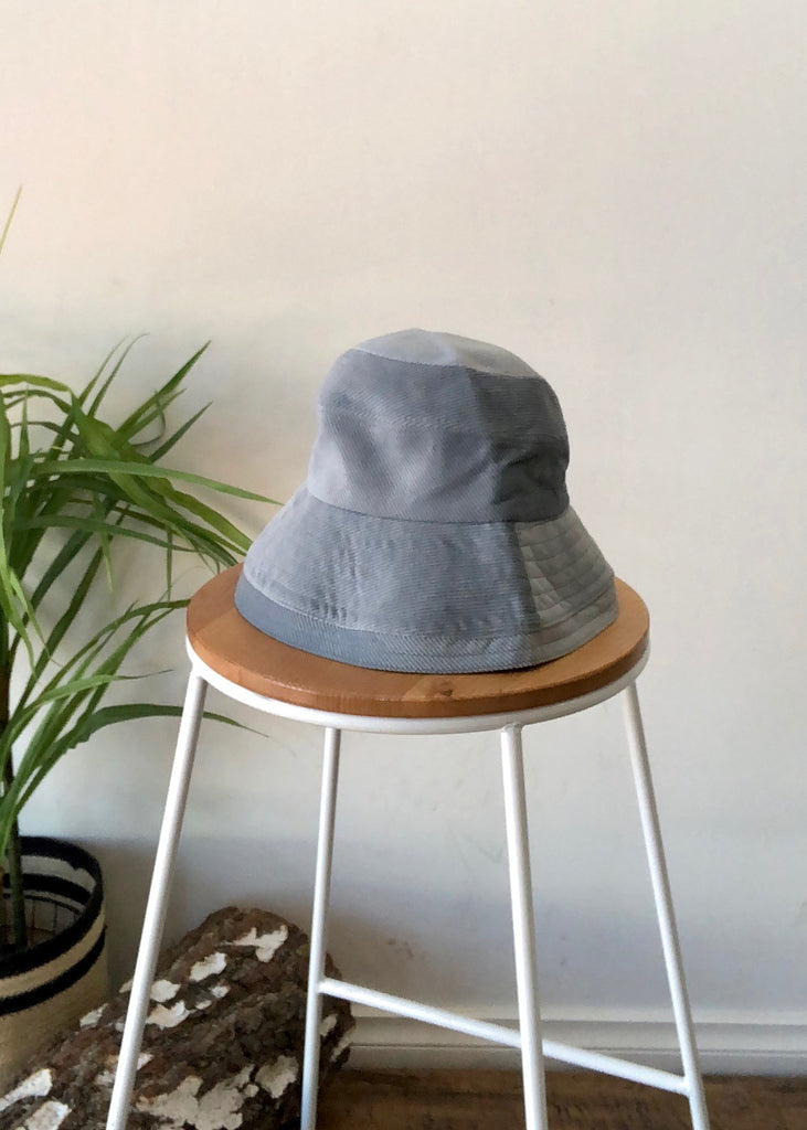 KELLAN CORD BUCKET HAT - BLUE